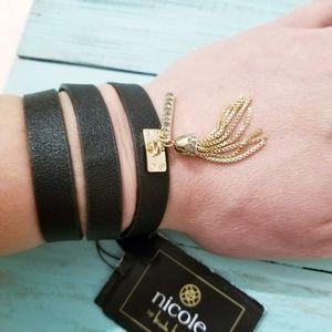 NWT Nicole by Nicole Miller Belt Wrap Bracelet D5